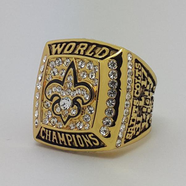 2009 New Orleans Saints XLIV Super bowl championship ring BREES size 11 Back Solid
