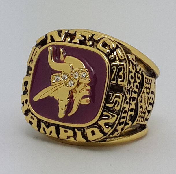 1973 Minnesota Vikings NFC super bowl championship ring size 11