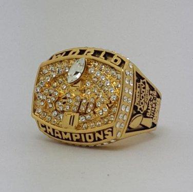 1999 St Louis Rams XXXIV Super bowl championship ring FAULK size 11