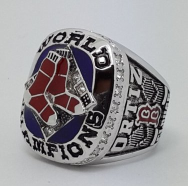 Boston Red Sox 2007 world series championship ring ORTIZ baseball size 9-13 Back Solid
