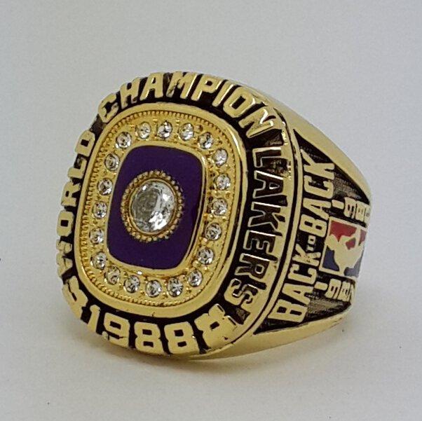 Los Angeles Lakers 1988 Basketball JOHNSON Dynasty championship ring NBA size 9-13 Nice Gift