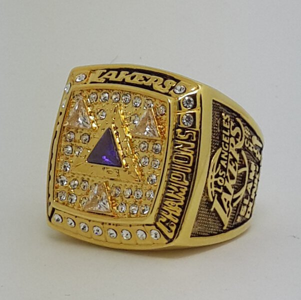 Los Angeles Lakers 2002 Basketball Kobe Bryant Dynasty championship ring NBA size 10 Nice Gift