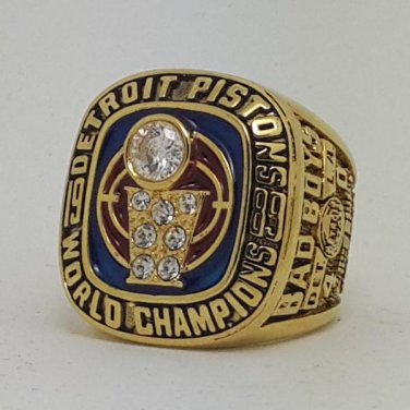 Detroit Pistons 1989 Basketball DUMARS championship ring NBA size 9-14 Nice Gift