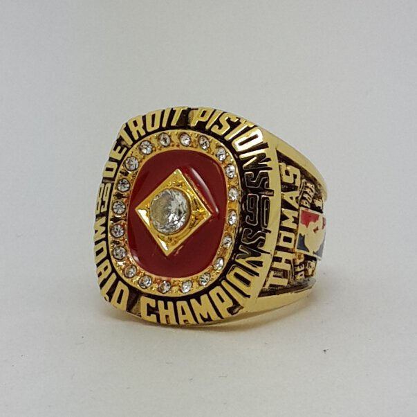 Detroit Pistons 1990 Basketball THOMAS championship ring NBA size 9-14 Nice Gift