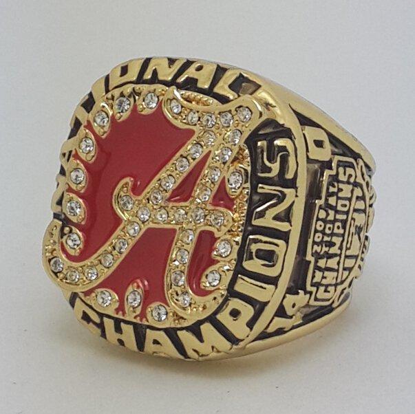 Alabama Crimson 2009 TIDE NCAA Football championship ring SABAN size 11 US Back Solid