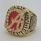 Alabama Crimson 2009 TIDE NCAA Football championship ring SABAN size 11 US Back Solid