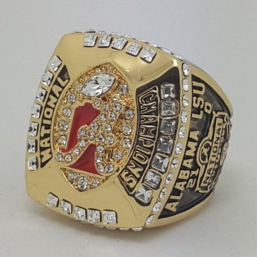 Alabama Crimson 2011 TIDE NCAA Football championship ring SABAN size 11 US Back Solid