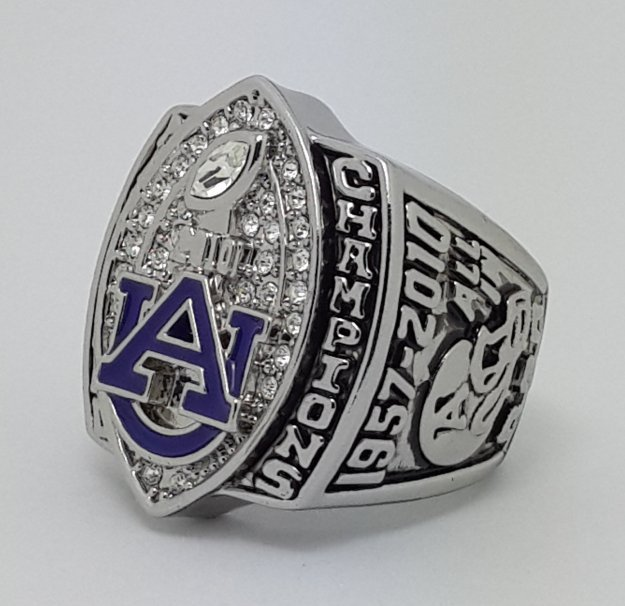 2010 University of Auburn Tigers NCAA Basketball championship ring CHIZIK size 11 US Back Solid