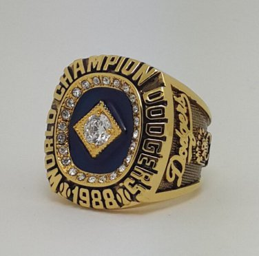 Los Angeles Dodgers 1988 world series championship ring HERSHISER baseball MLB size 9-14 Back Solid