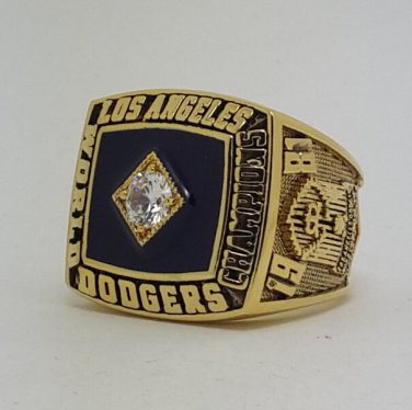 Los Angeles Dodgers 1981 world series championship ring CRANDALL baseball MLB size 9-14 Back Solid