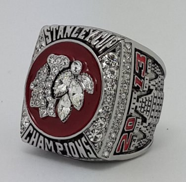 Chicago Black Hawks 2013 Stanley Cup championship ring TOEWS size 11 US Back Solid