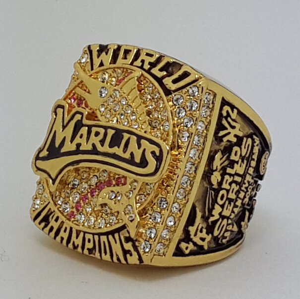 Florida Marlins 2003 Stanley Cup championship ring Beckett size 11 US