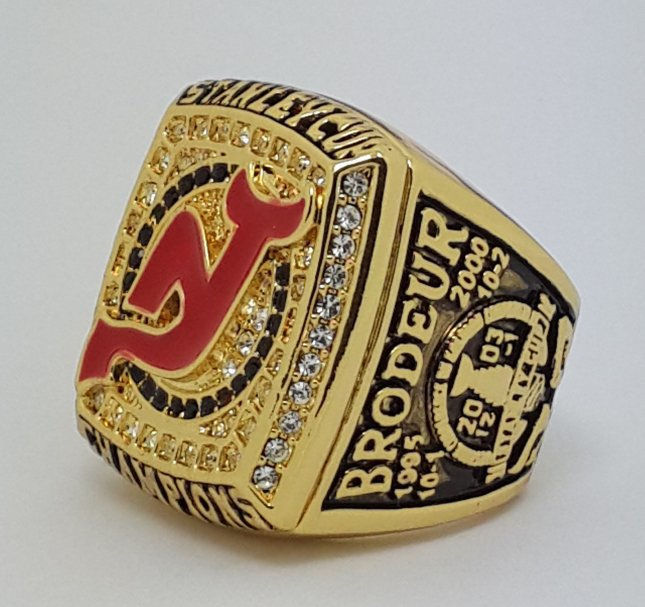 New Jersey Devils 2003 Stanley Cup championship ring Brodeur size 11 US Back Solid