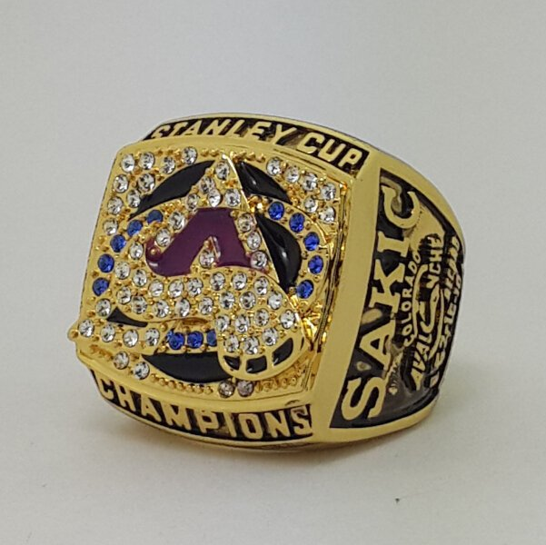 Colorado Avalanche 2001 Stanley Cup championship ring SAKIC size 11 US Back Solid
