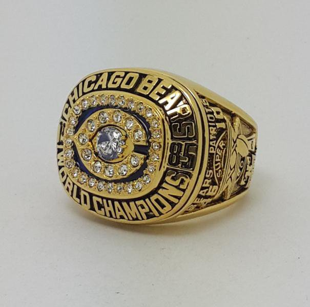 High Quality 1985 Chicago Bears XX Super bowl championship ring DENT size 9-14 Back Solid
