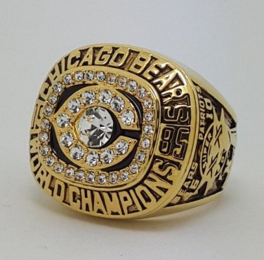1985 Chicago Bears XX Super bowl championship ring PERRY size 11 Back Solid