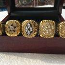 5pcs 1971 1977 1992 1993 1995 Dallas Cowboys Super bowl championship ring size 11 Gold Plated + Box