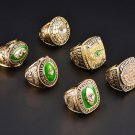 A Set 1961 1965 1966 1967 1996 2010 Green Bay Packers Super Bowl Championship rings Size 11