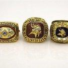 A Set 1973 1974 1976 Minnesota Vikings NFC Championship rings size 11