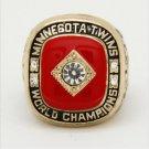 1991 Minnesota Twins World Series Championship ring Size 11 Back Solid