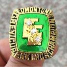 1980 Edmonton Eskimos Grey Cup Championship ring Size 11 US Back Solid
