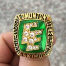 1987 Edmonton Eskimos Grey Cup Championship ring Size 11 US Back Solid