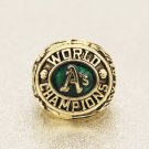 1974 Oakland Athletics World Series Championship ring Size 11 Back Solid