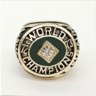 1973 Oakland Athletics World Series Championship ring Size 11 Back Solid