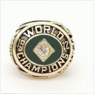 1972 Oakland Athletics World Series Championship ring Size 11 Back Solid