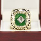 1989 Oakland Athletics World Series Championship ring Size 11 Back Solid