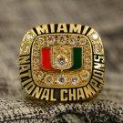 1991 Miami Hurricanes National Championship ring Size 8