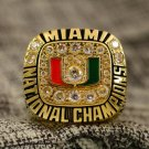 1991 Miami Hurricanes National Championship ring Size 12
