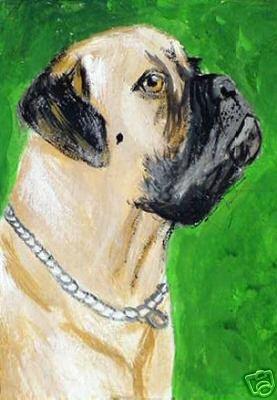 ACEO Mastiff Dog
