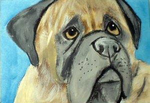ACEO English Mastiff Dog
