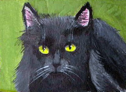 ACEO Black Cat