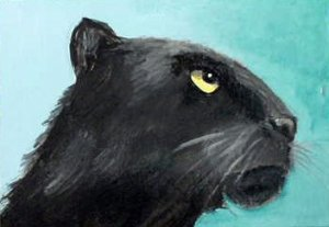 ACEO Black Panther