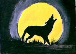 ACEO Wolf Moon