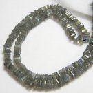 Labradorite Square Heishi Cut Beads 16 inch strand 4 - 4.5 mm approx