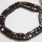 Garnet Square Heishi Cut Beads 16 inch strand 4.5 - 5 mm approx