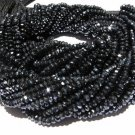 Mystic Black Spinel Micro Faceted Roundell 14 inch strand 3 - 3.5 mm approx