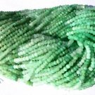 Shaded Chrysoprase Micro Faceted Roundell 14 inch strand 3.5 - 4 mm approx