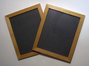 "Two (2) Oak Picture frames with glass, 8"" x 10"""