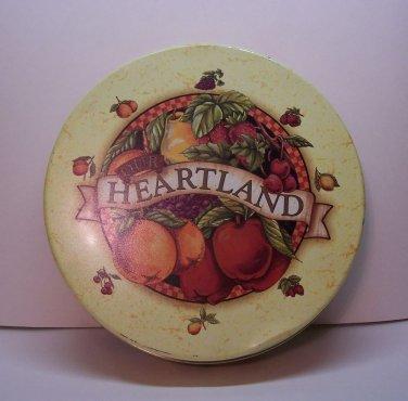 """Heartland Tin Orange. Size 10"""" x 2-1/2 multi colored."""