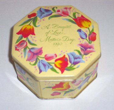 Collectable Avon Tin, Mothers Day 1990, Made in England, 5 x 2 1/2 in