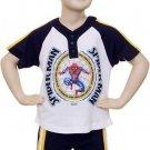 Marvel Spider Man Short Set (2 PC), Size 3T, logo on shirt, Navy shorts