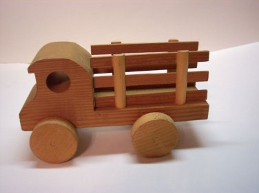 Wooden truck stake body medium size. 8 1/2'' x 5''
