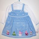 CORDUROY SNOWMAN JUMPER SET (3 PC) 18M, 60% cotton, 40% Polyester, Blue