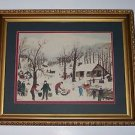 "Art, Watercolor Print, Winter in Vermont, 23 12"" X 19 1/2"""