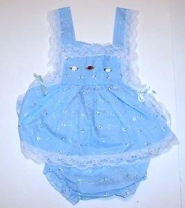 """Infants Sunnie Annie's Sundress,""""KC BABY"""", 9/12M, Blue, 100% cotton"""