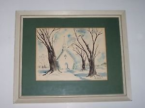 "Art, Original Watercolor, signed M Smith, 22 1/2"" X 18 1/2"""
